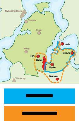 Kort over Skive området